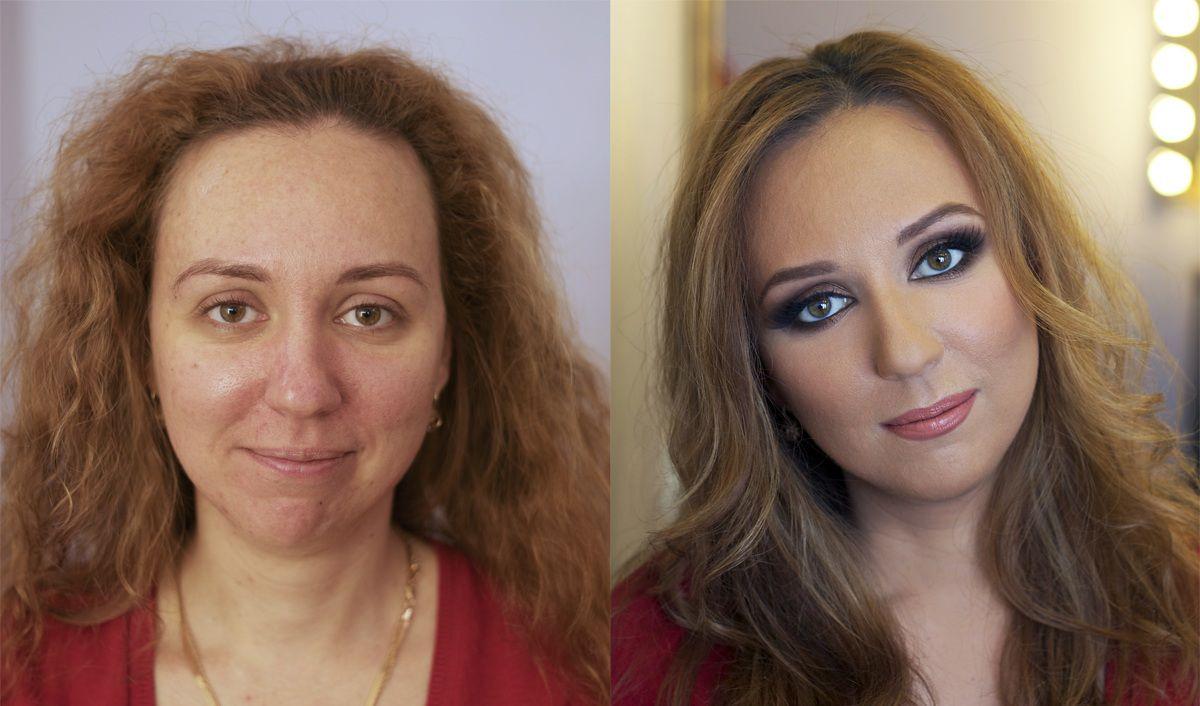 Девушки до макияжа и после - AdMe ru