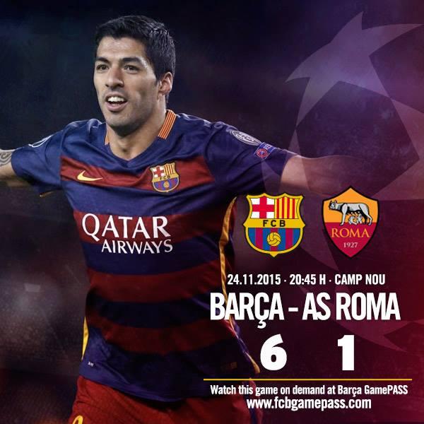 Барселона рома 6 1