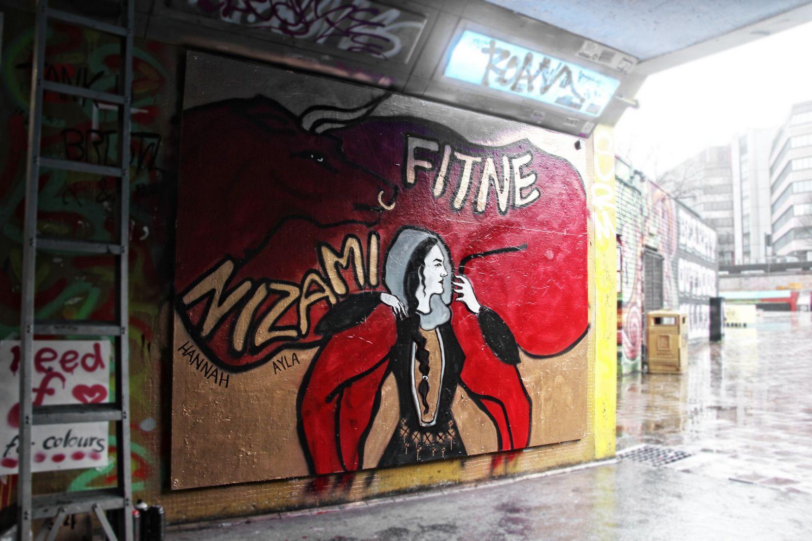 Героиня поэмы Низами Гянджеви «поселилась» в родном городе Бэнкси