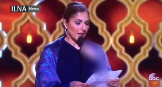 ИранскоеТВ показало «Оскар», замазав грудь Шарлиз Терон
